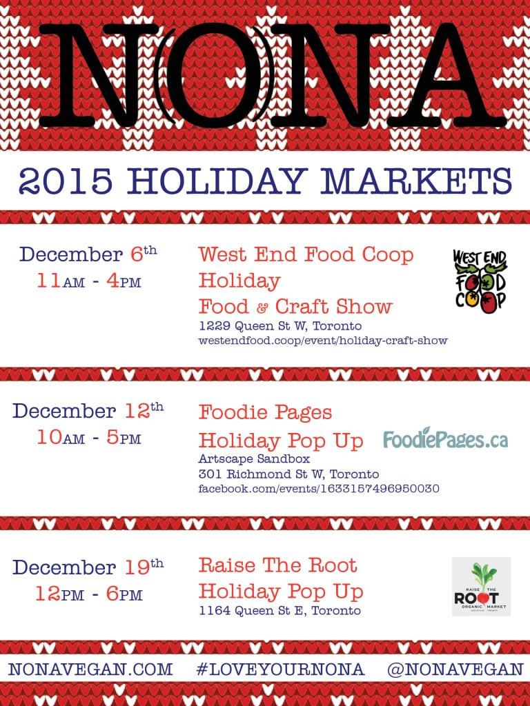 NONA 2015 Holiday Markets
